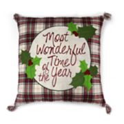 """St. Nicholas Square® """"Wonderful Time of the Year"""" Throw Pillow"""