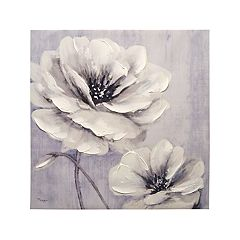 Garden Whites Canvas Wall Art