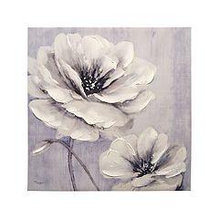 Garden Whites Canvas Wall Art