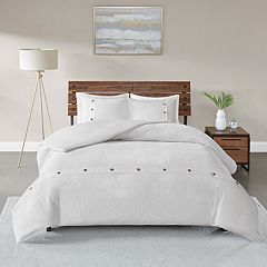 Madison Park Rianon 3-piece Cotton Waffle Weave Duvet Cover Set