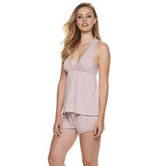 Women's Flora by Flora Nikrooz Burnout Lace Cami & Shorts Pajama Set