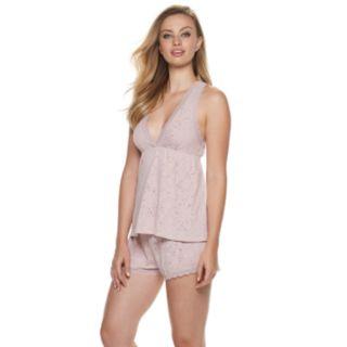 Women's Flora by Flora Nikrooz Burnout Lace Cami & Shorts Pajama Set