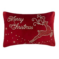 St. Nicholas Square® 'Merry Christmas' Deer Throw Pillow