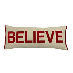 St. Nicholas Square® Believe Oversized Lumbar Throw Pillow