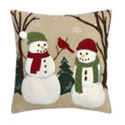 St. Nicholas Square® Snowmen Throw Pillow