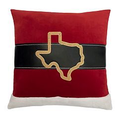 St. Nicholas Square® Texas Santa Belt Throw Pillow