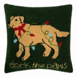 St. Nicholas Square® Deck The Paws Throw Pillow