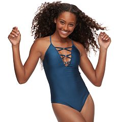 Strappy Inset One-Piece Swimsuit
