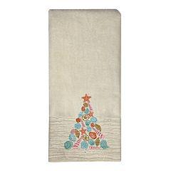 St. Nicholas Square® Christmas Traditions Beach Tree Hand Towel
