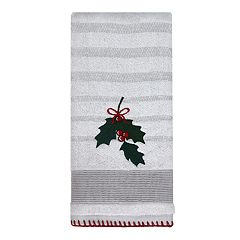 St. Nicholas Square® Christmas Traditions Holly Hand Towel