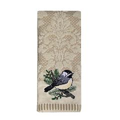 St. Nicholas Square® Christmas Traditions Chickadee Tip Towel