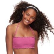 Mix and Match Smocked Bandeau Bikini Top
