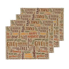 Celebrate Fall Together Fall Word Toss Placemat 4-pack