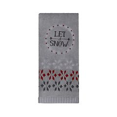 St. Nicholas Square® Christmas Traditions Let it Snow Tip Towel