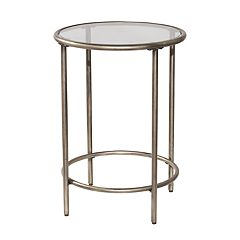 Hillsdale Furniture Corbin Glass Top End Table