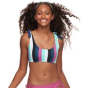 Mix and Match Striped Bralette Swim Top