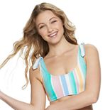 Juniors' SO® Striped Bralette Swim Top