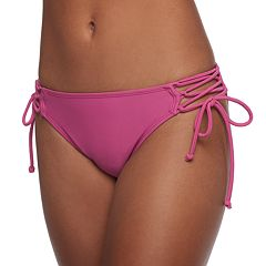 Mix and Match Lace-Up Hipster Bikini Bottoms