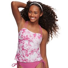 Mix and Match Tie-Dye Macrame Tankini Top
