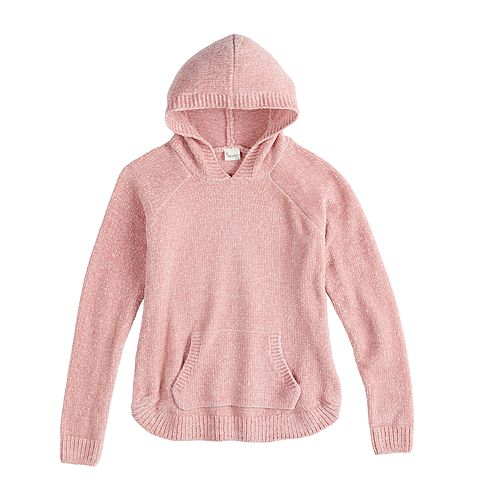 Girls 7-16 & Plus Size Mudd® Hooded Chenille Sweater