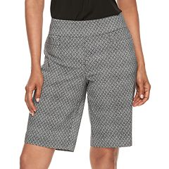 Women's Dana Buchman Print Pull-On Berumda Shorts