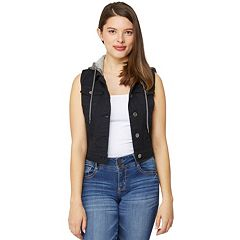 Juniors' Wallflower Hooded Vest