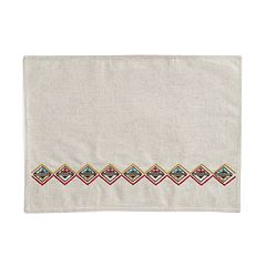 Mainstreet Embroidered Linen Placemat