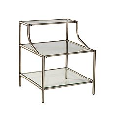 Hillsdale Furniture Corbin Glass Top Step Table