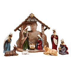 St. Nicholas Square® Classic Nativity Scene Christmas Table Decor 10-piece Set