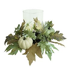SONOMA Goods for Life™ Artificial Farmhouse Pumpkin Hurricane Candle Holder