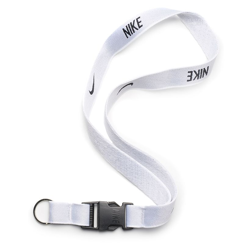 Men's Nike Lanyard, Natural Keep your keys and other trinkets handy with this Nike lanyard. Quick-release detachable buckle Fabric & Care Polyester blend Spot clean Imported Size: One Size. Color: Natural. Gender: Male. Age Group: Adult.