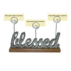 SONOMA Goods for Life™ Farmhouse 'Blessed' Photo Clip