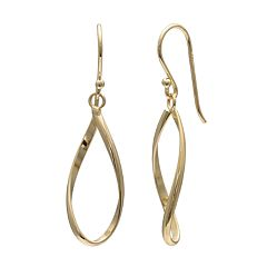 PRIMROSE 14k Gold Over Silver Twist Teardrop Earrings