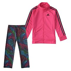 Girls 4-6x adidas Tricot Jacket & Swirl Pants Set