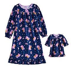 Toddler Girl Peppa Pig Nightgown & Doll Nightgown