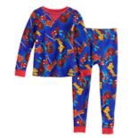 Toddler Boy Marvel Spider-Man Top & Bottoms Base Layer Set by Cuddl Duds