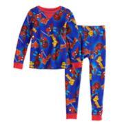 Toddler Boy Marvel Spider-Man Top & Bottoms Base Layer Set by Cuddl Duds