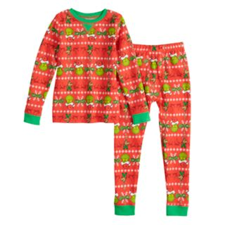 Toddler Boy Dr. Suess' The Grinch Who Stole Christmas Max Top & Bottoms Base Layer Set by Cuddl Duds