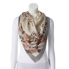 Women's Dana Buchman Rose Bouquet Square Scarf