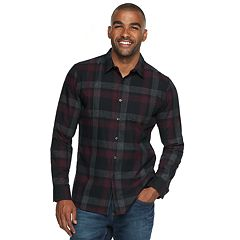 Men's Marc Anthony Slim-Fit Soft Touch Flannel Button-Down Shirt