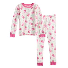Toddler Girl Cuddl Duds Peppa Pig Thermal Top & Bottoms Set