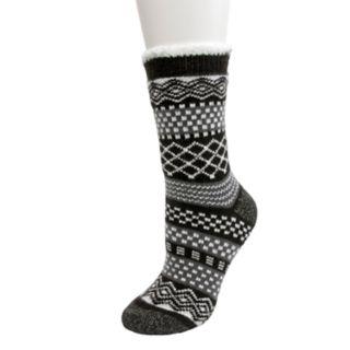 Women's Cuddl Duds Cabin Cozy Slipper Socks
