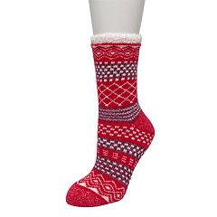 Women's Cuddl Duds Cabin Cozy Slipper Socks