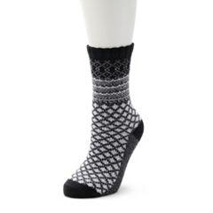 Women's Cuddl Duds Geometric Fairisle Crew Socks
