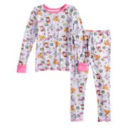Toddler Girl Cuddl Duds Paw Patrol Marshall, Skye & Everest Top & Bottoms Baselayer Set