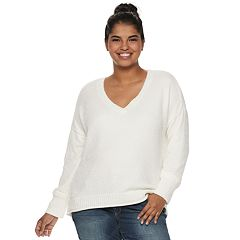 Juniors' Plus Size Mudd® Chenille Sweater