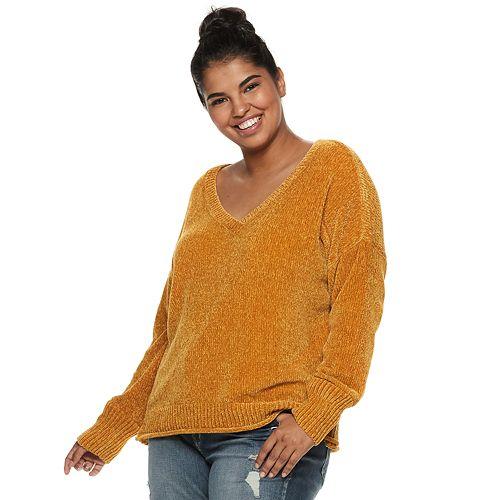 Juniors Plus Size Mudd Chenille Sweater