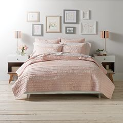 LC Lauren Conrad Frayed Edge Coverlet