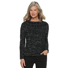 Petite Croft & Barrow® Chenille Boatneck Sweater