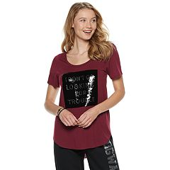 Juniors' Harry Potter 'Trouble' Flip Sequins Graphic Tee